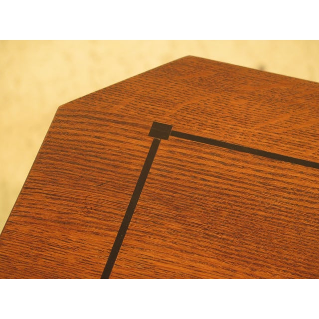 Stickley Arts & Crafts Oak Square Occasional Table - Image 3 of 8