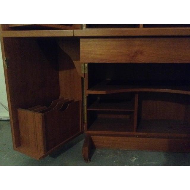 Sienna Mid-Century Modern Folding Secretary Desk For Sale - Image 8 of 11