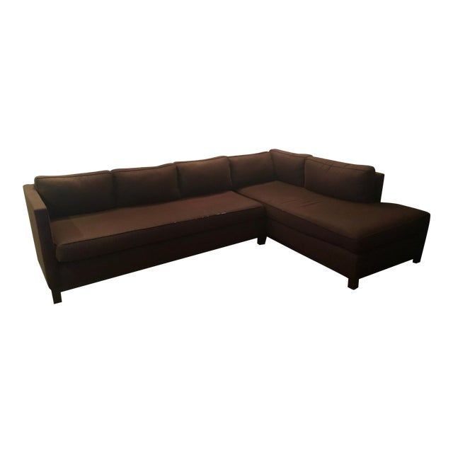 Mitchell Gold + Bob Williams Sectional in Brown Linen/Cotton - Image 1 of 6