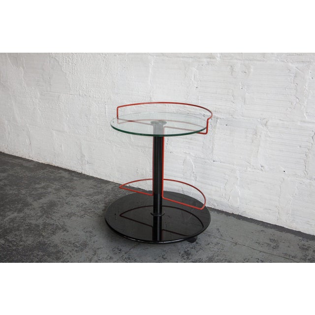 Minimalism Italian Modern Rolling Barcart For Sale - Image 3 of 6