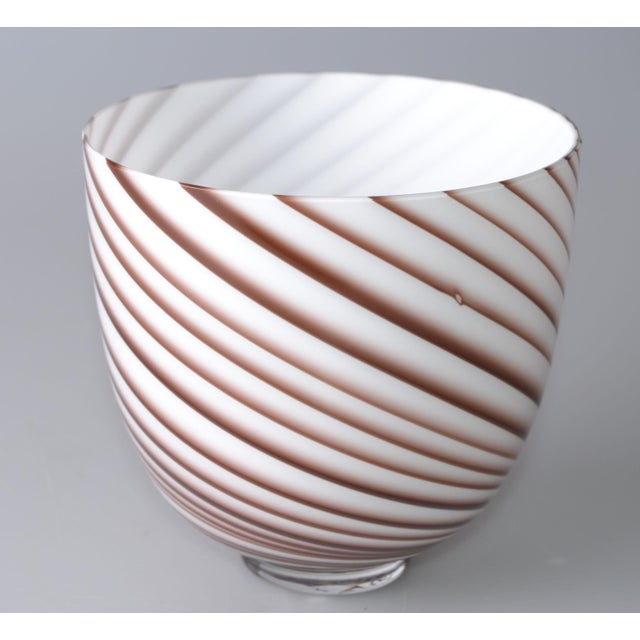 Original Tommaso Barbi Italian Murano Decorative Bowl / Vase For Sale - Image 10 of 10
