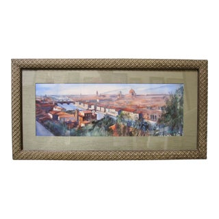 Keiko Tanabe Duomo Florence Italy Impressionist Watercolor Painting For Sale