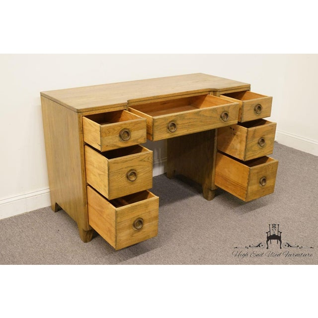 "Wood Davis Cabinet Co. Solid Oak Richwood Finish 48"" Vanity For Sale - Image 7 of 13"