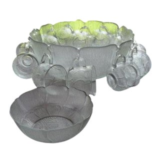 15-Piece French Glass Punch Set