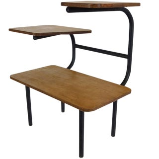 Bauhaus Style Tubular Three-Tiered Side Table For Sale