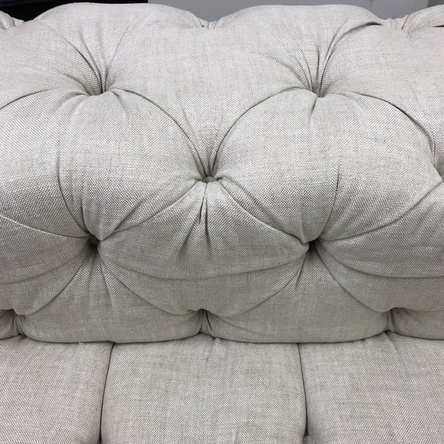 Restoration Hardware Soho Armless Sofa For Sale In San Francisco - Image 6 of 13