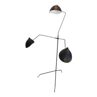 Standing Three-Arm Lamp by Serge Mouille For Sale