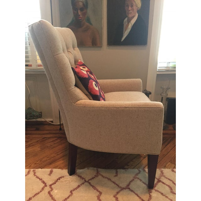 Custom Tufted Wingback Chair - a Pair - Image 7 of 11
