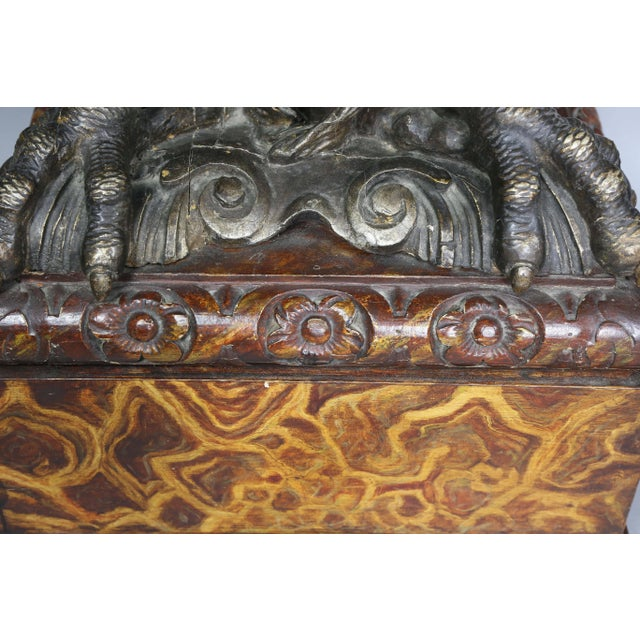 Pair of George II Style Giltwood and Grey Marble Eagle Console Tables For Sale In Boston - Image 6 of 10