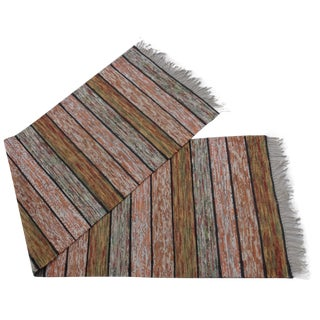 Hand Woven Swedish Rag Rug - 2′4″ × 8′5″ For Sale