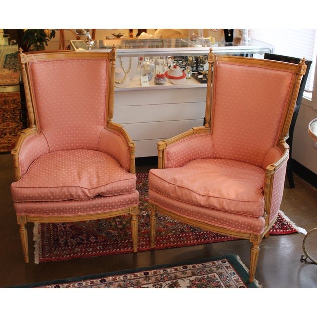 Vintage Salmon Armchairs - A Pair - Image 2 of 8