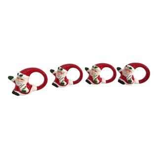 Vintage Santa Napkin Rings - Set of 4 For Sale