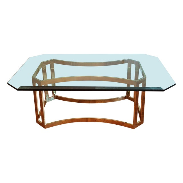 Milo Baughman Style Coffee Table - Image 1 of 5