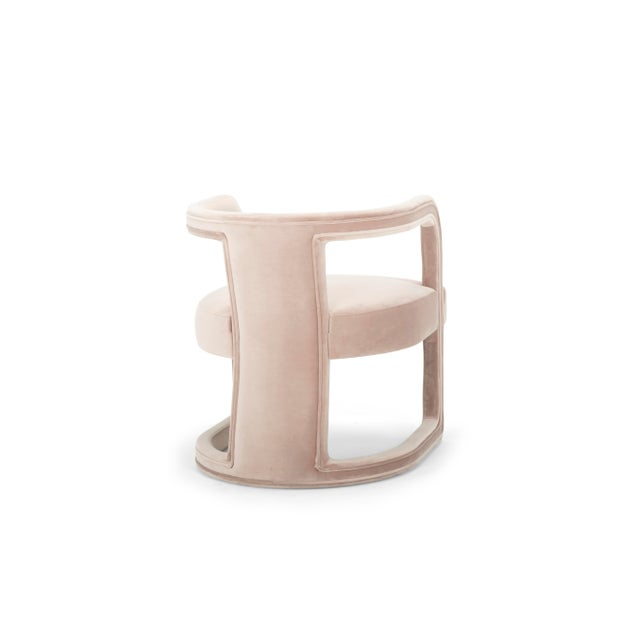 Contemporary Rory Side Chair in Rosa Pink For Sale - Image 3 of 6
