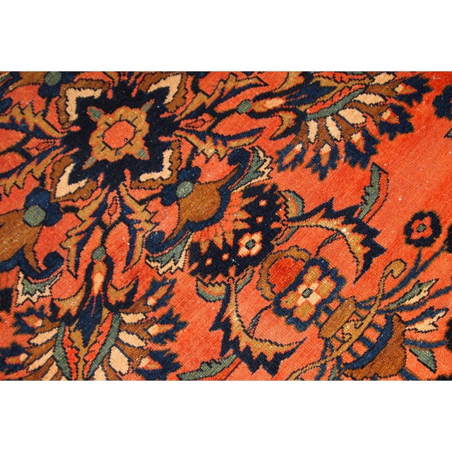 Traditional 1920s, Handmade Antique Persian Lilihan Rug 5.3' X 7.2' For Sale - Image 3 of 10
