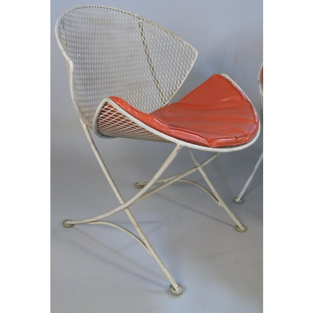 Mid-Century Modern 1950s Salterini Orange Slice Settee and Lounge Chair For Sale - Image 3 of 7
