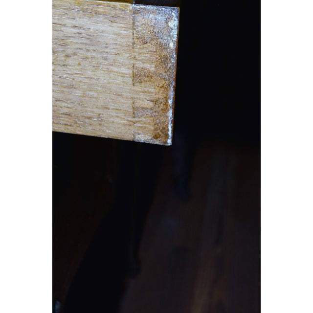 Transitional Inlay Wood Side Tables - A Pair For Sale - Image 9 of 10