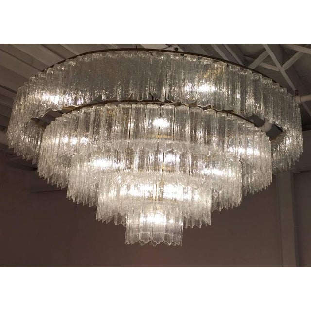Tronchi Mid-Century Five-Tier Chandelier For Sale In New York - Image 6 of 7