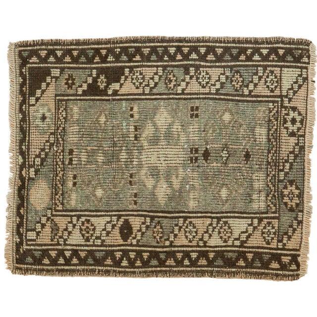Vintage Oushak Square Rug Mat - 1′8″ × 2′ For Sale