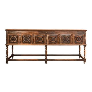 Vintage Engraved Spanish Console Table
