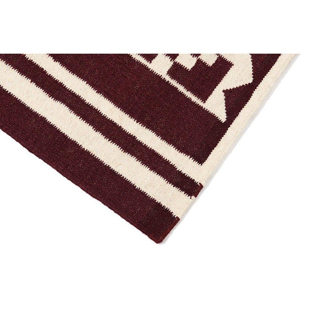 Flatwoven Dhhurie Brick Red Graphic Rug 3' X 5' - Image 2 of 3
