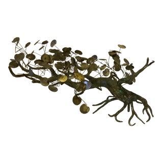 C Jere Bronze Cyprus Tree Sculpture For Sale