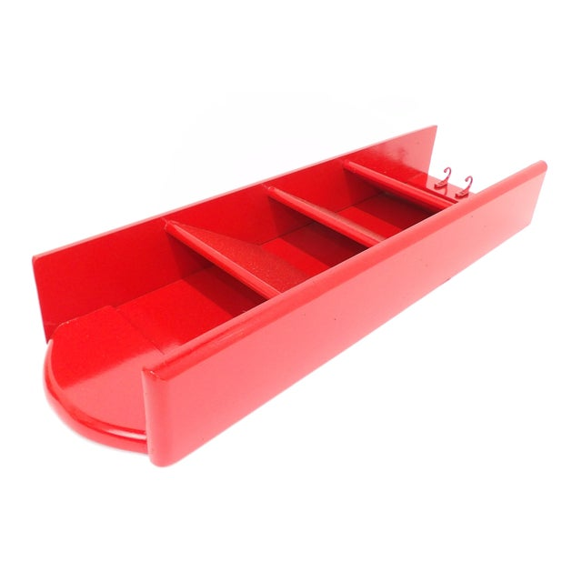 Mid-Century Modern Red Mail Key Slot Organizer For Sale In Sacramento - Image 6 of 11