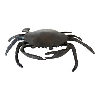 Vintage Bronze Ornamental Sea Crab For Sale