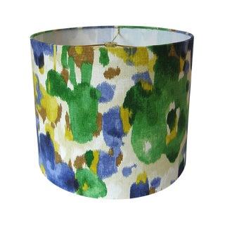 Large Robert Allen Landsmeer Linen Custom Drum Lamp Shade