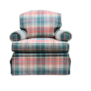 21st Century Brunschwig & Fils Custom Oxford Armchair For Sale