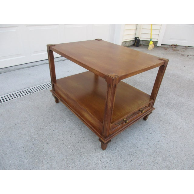 Mid 20th Century Mid-Century Modern Fine Arts Furniture Co. Two-Tiered Side Table For Sale - Image 5 of 11