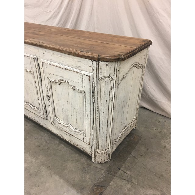 Super stylish 18th C French enfilade in excellent antique condition. This stunning piece is made of solid walnut, and...