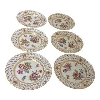 Antique European Porcelain Plates - Set of 6