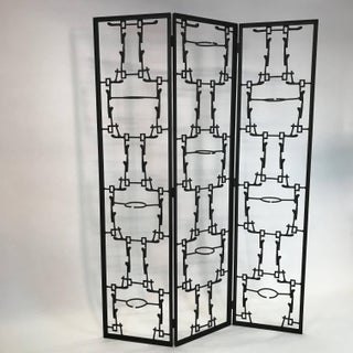 Mid-Century Modern Brutalist Abstract Room Divider Screen Preview