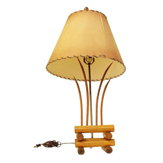 Bamboo Lamps - a Pair For Sale - Image 10 of 13