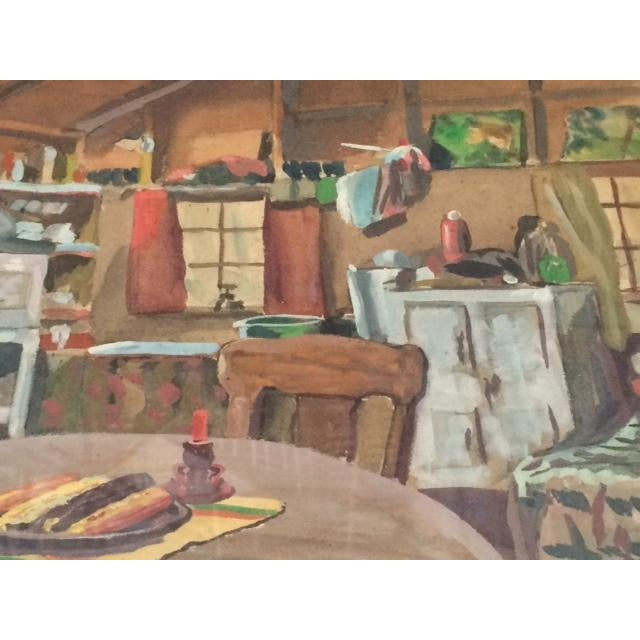 "Peter Driben Watercolor ""Retreat"" - Image 5 of 6"