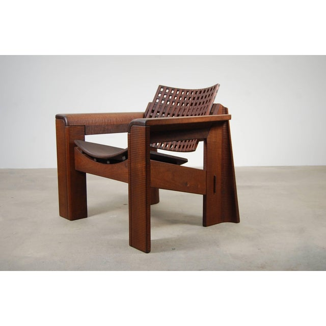 Mid-Century Modern Pair of Solid Walnut Lounge Chairs For Sale - Image 3 of 10