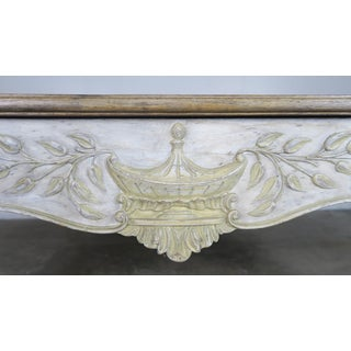 French Provintial Style Painted Coffee Table With Parque Top Preview