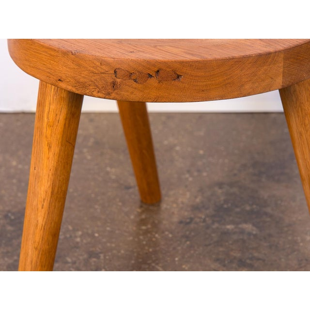 Oak Jean Touret Oak Stool for Marolles For Sale - Image 7 of 10