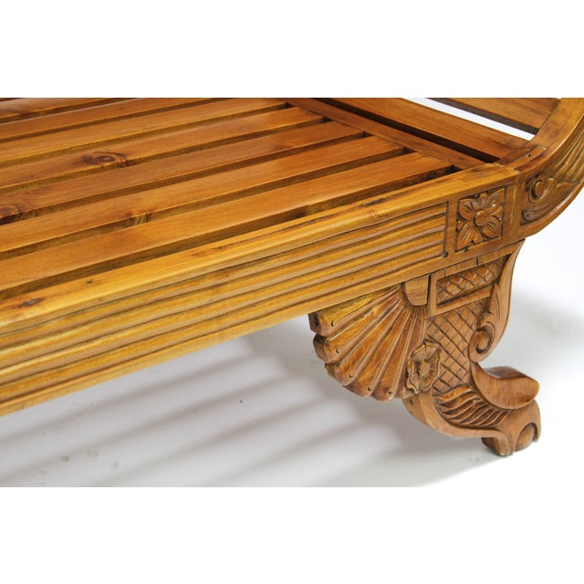 Colonial Java Carved Bench - Image 6 of 7