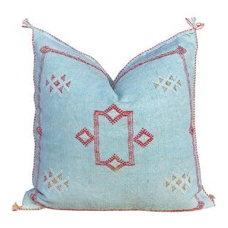 Nilaa Moroccan Silk Rug Pillow For Sale