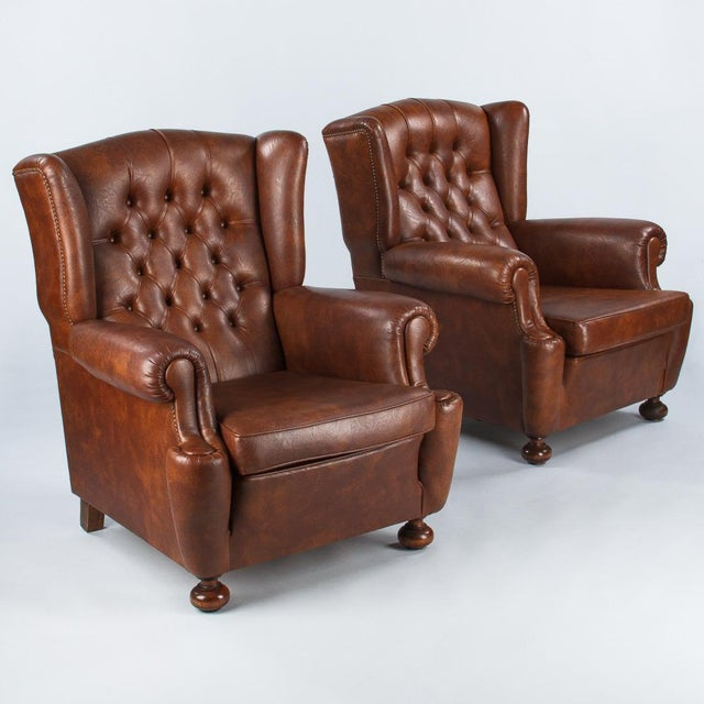 1960s Vintage French Tufted Armchairs - A Pair - Image 3 of 10