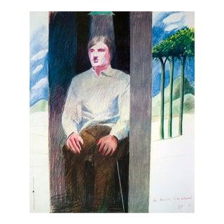 1977 David Hockney 'Prisoner From Amnesty International' Pop Art Multicolor France Offset Lithograph For Sale
