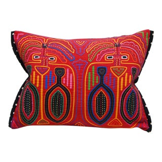"Tribal Mola Decorative Pillow Cover - 12x16"" For Sale"