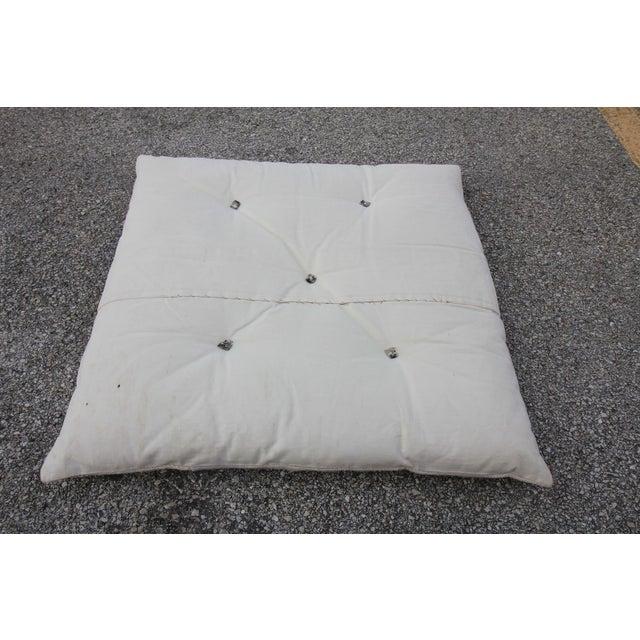Vintage Turkish Hemp Floor Pillow - Image 5 of 5