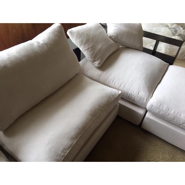 Flexform Custom Made Groundpiece Sofa For Sale - Image 10 of 11