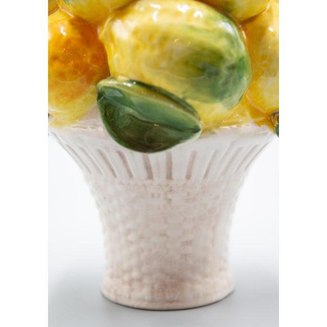 Late 20th Century Vintage Italian Majolica Lemon Topiary For Sale - Image 5 of 8