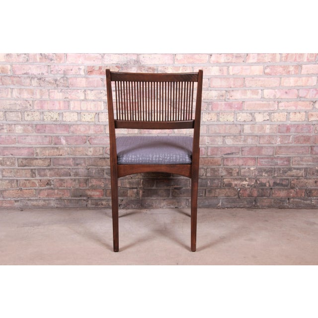 John Van Koert Mid-Century Modern Restored Walnut Dining Chairs, Set of Ten For Sale - Image 10 of 13