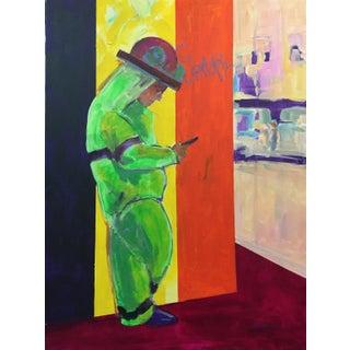 Large Market Street San Francisco Color Field Modern Figurative Acrylic Painting - Marina Movshina For Sale