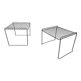 1980s Post Modern Wire Tables - a Pair For Sale